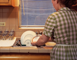 How to be a Good Housewife:  Wash Dishes Promptly After Supper