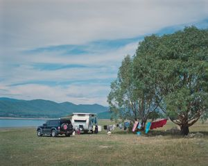 Camping along the banks of Blowering reservoir.