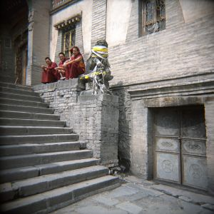 3 Monks on a Wall