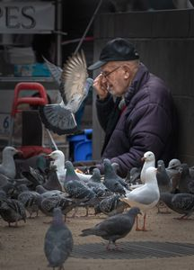 Old man with his Friends