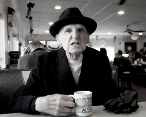 """""""Two Eggs, Over-Easy, Home Fries, Italian Toast-Dry, Coffee-Regular"""" (From the series entitled, """"The Last Picture Show"""" documenting the last year of my father's life as he suffered from progressive dementia.)"""