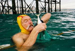 Dave netting a Horse Mackerel