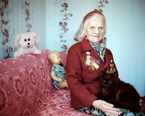 """Lida Pietrovna, Maladechna, Nurse. From the series, """"I Reminisce and Cry for Life (Women veterans of II World War in Belarus)"""" © Agnieszka Rayss. Finalist, LensCulture Exposure Awards 2013."""