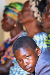 Gazing in the crowd - Togo