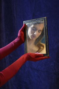 Mirror with Gloves