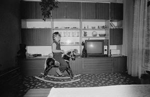 Zofia Rydet, Sociological Record, Krakow Region, Wygielzów, 1985. People in Interiors cycle © Zofia Augustynska-Martyniak
