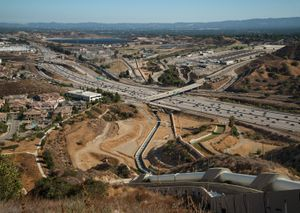 The Los Angeles Aqueduct Cascades, Los Angeles, CA
