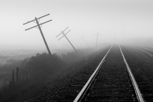 Telephone Lines and Railroad Tracks