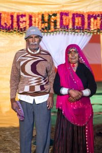 A married couple in Allahabad, India
