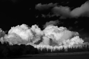 Clouds on the hill