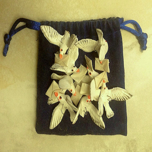 """""""flight of Mexican carrier pigeon ornaments"""" full view"""