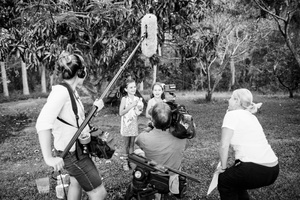 Amalia and Hunter being filmed for 'Totally Wild' Greystone Farm Guanaba QLD 2013.