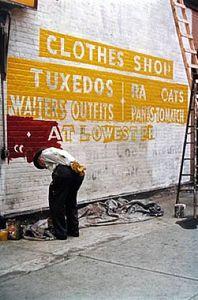 Sign Painter, 1954 © Saul Leiter
