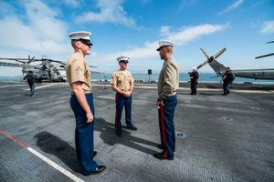 On the USS America, San Francisco CA, October 2014