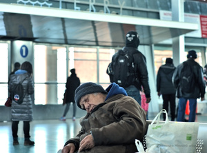 New York, waiting ferry