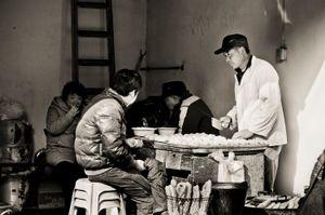 Dumplings for Sale. Shanghai, China.
