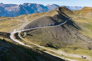 The old military road'Strada dell'Assietta', Piemonte, Italy,