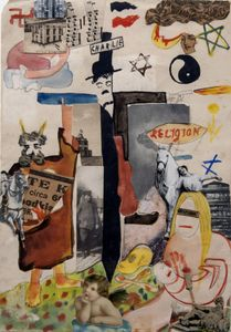 Charlie Chaplin, 1920. Collage, Indian ink, watercolor and pencil on paper. Collection Helaine and Yorick Blumenfeld © The Estate of Erwin Blumenfeld