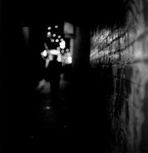 'So I let my fingers brush the brickwork and try to capture the silent emptiness with my camera'