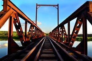 Ponte de ferro.