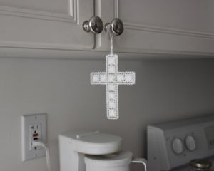 Cross in the kitchen.