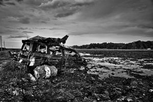 """On the border devastated by the Tsunami, from the series Fukushima """"No Go"""" Zone, © Pierpaolo Mittica."""