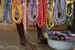 Edna, Bead Maker. Krobo, Ghana