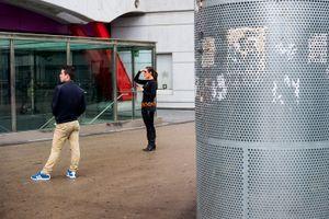 A superheroine on the streets. Barcelona. 2016