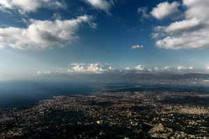 A view from above of Port-au- Prince. November 20, 2014