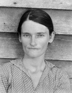 """Allie Mae Burroughs, wife of Floyd. Photo from """"Let Us Now Praise Famous Men."""" © Walker Evans. Published by Houghton Mifflin Company"""