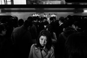 Morning in Shinjuku station