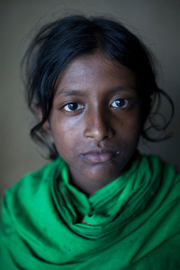 Mariam, age 12, a student of class four in a govt. primary school, lives at Khanpara village in Satkhira district. Every year her school remains closed during the monsoon due to flood water.