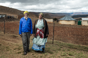 Buzile Justice Nyakaza with his wife Nowongile - Cala, South Africa 2015