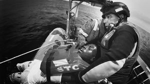 At Sea. Central Mediterranean. The rescuer.