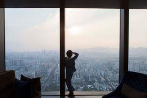 Boy at the window,Guangzhou.