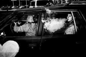 No smoking in the car
