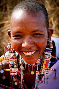 Smile Maasai woman