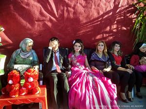 Wedding inside the camp.
