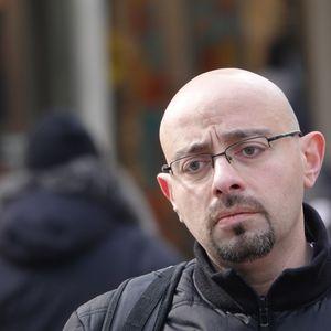 Pensive Guy, Yonge Dundas Square, Toronto