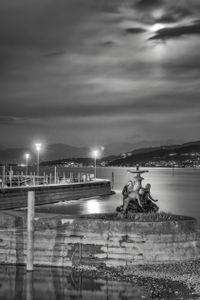 Statue under Moonlight