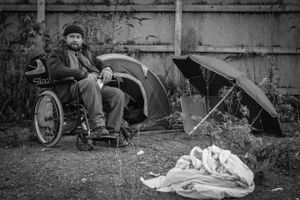 The first resident of the Camp is Polish Jack, He is a an alcoholic and suffers from epilepsy and has to use a wheelchair for mobility.
