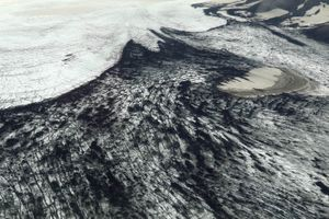 Icelandic glacier from above