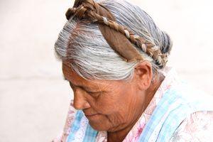 Elderly woman - Santo Tomas Jalietza, Oaxaca, Mexico
