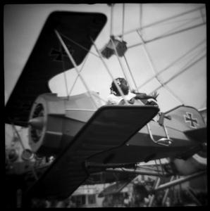 Girl on Fair Ride in Memphis, TN