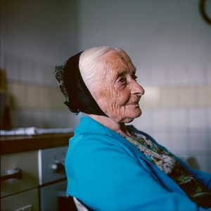 Agnes Schuster (1910-2017), Catholic Sorb,   Lusatia, 2010. From the series: The last women in their traditional peasant garbs