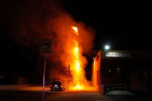 Tree Fire, Berendo Street