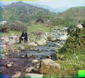 """On the Skuritzkhali River, Caucasus, between 1905 and 1915 © Sergei Mikhailovich Prokudin-Gorskii, from the book """"Nostalgia"""". Images courtesy US Library of Congress and Gestalten publishers, Berlin."""