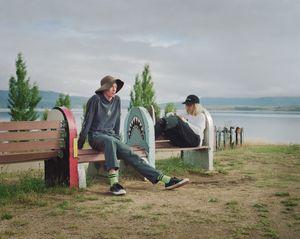 Beau and friend, Lake Jindabyne, NSW