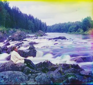 """Study near the Kivach Waterfall, Russia, 1915 © Sergei Mikhailovich Prokudin-Gorskii, from the book """"Nostalgia"""". Images courtesy US Library of Congress and Gestalten publishers, Berlin."""