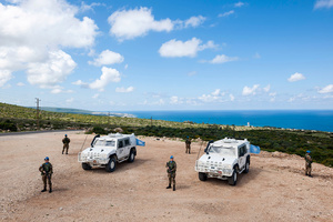 UNIFIL patroll in Naqoura, Lebanon